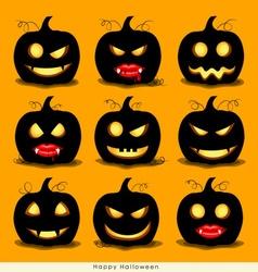 Happy halloween background with halloween pumpkin vector