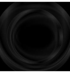 Black smooth glossy round shape design vector