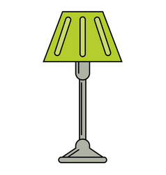 Floor lamp decoration icon vector