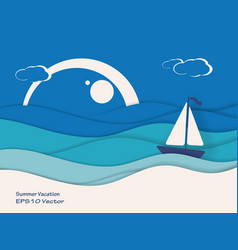 summer travel concept vector image