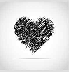Hand drawn heart vector