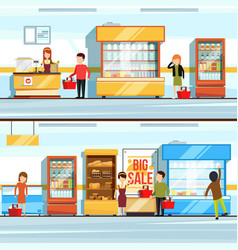 Concept of shopping peoples vector