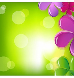 Flowers and bokeh vector