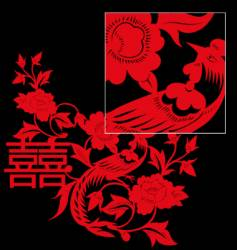 Chinese paper cut vector image