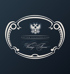 Vintage frame with ornament vector