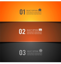 Option banner vector