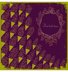 Wedding card or invitation with small abstract vector image