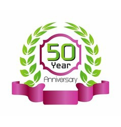50 year birthday celebration vector