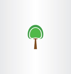 Logo icon green tree sign element vector