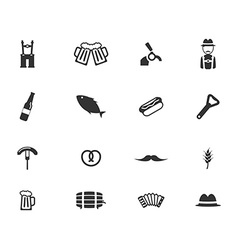Oktoberfest simply icons vector