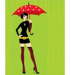 with umbrella vector image