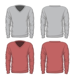 Casual mens v-neck sweatshirt vector