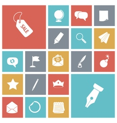 Icons tile business money vector