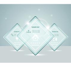 Eps10 glass transparent web box vector image