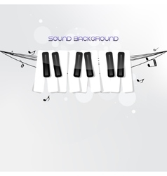 Piano keyboard concept background vector image