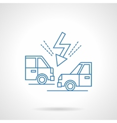 Accident on road flat line icon vector
