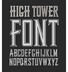 Handy crafted vintage label font high vector