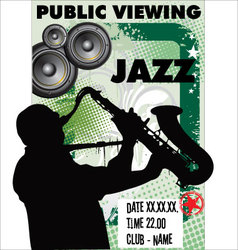 Jazz background - public viewing vector
