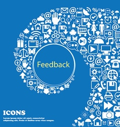 Feedback sign icon nice set of beautiful icons vector