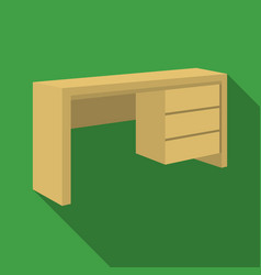 a mall table for writingwooden table on legs with vector image