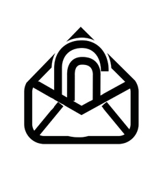 Attach file email setup isolated icon design vector