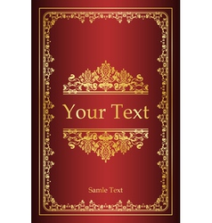 Book cover - vintage background vector image vector image