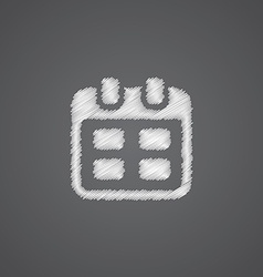 Calendar sketch logo doodle icon vector