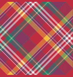 check diagonal plaid tartan seamless fabric vector image