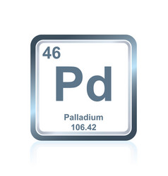 Chemical element palladium from the periodic table vector