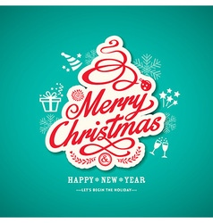 christmas sign design on green background vector image