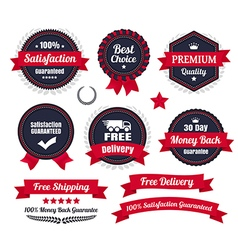 Classic premium quality ecommerce badges vector