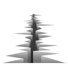 Crack in ground vector
