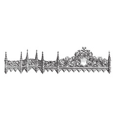 Crosspiece horizontal piece vintage engraving vector