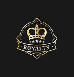 crown logo template luxury corona monogram vector image vector image