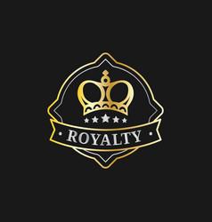 Crown logo template luxury corona monogram vector