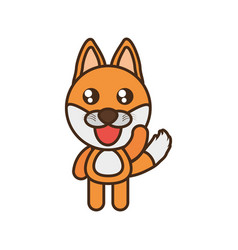 Cute fox toy kawaii image vector
