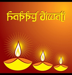 Diwali greeting background vector
