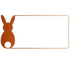 Easter border brown gradient vector