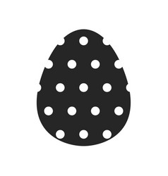 Easter egg black and white flat icon for holiday vector