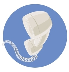 Handset of vintage telephone vector image