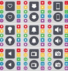 Heart police badge smartphone light bulb vector