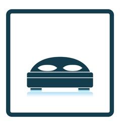 Hotel bed icon vector