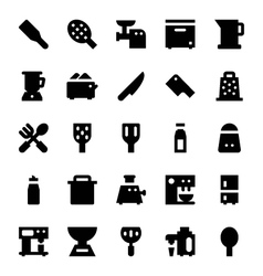 Kitchen utensils icons 8 vector