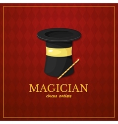 Magician logo circus design vector image vector image