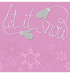 mittens snow vector image vector image