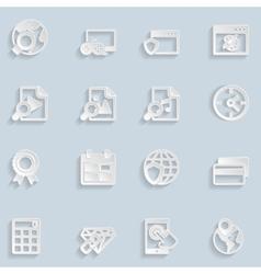 Paper Seo Icons Vol 3 vector image