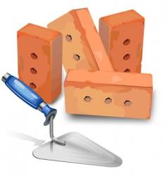 platoir and bricks vector image vector image