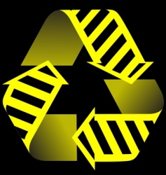 recycle and construction icon vector image