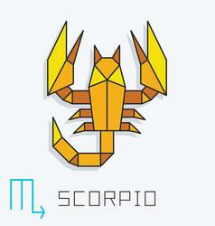 Scorpio sign vector
