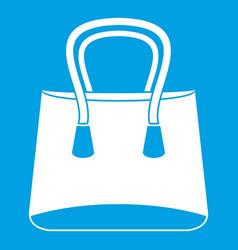 Small woman bag icon white vector